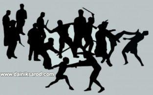 নাম ধরে গালি দেওয়ায় বিজয়নগরে দুই চৌধুরী বাড়ির সংঘর্ষে ৯জন আহত
